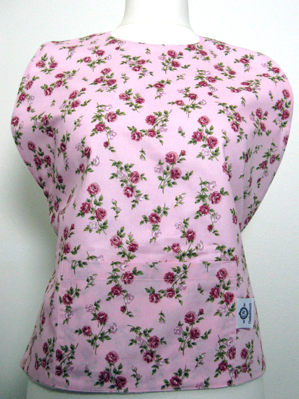 Pink Roses Apron Top